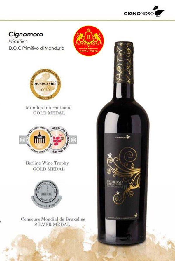 Rượu Vang Cignomoro Primitivo Di Manduria 2