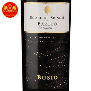 Rượu Vang Boschi Del Signori Barolo Bosio 1
