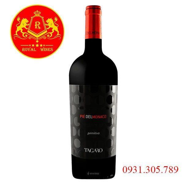 Rượu vang Piedelmonaco Primitivo Tagaro