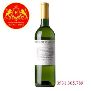 Rượu Vang Trang Chateau Talusson Bordeaux