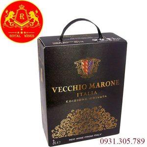 Vang bịch Vecchio Marone 3l