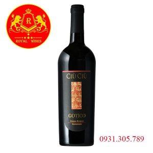 Rượu Vang Ciu Ciu Gotico