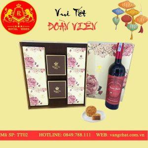 Hộp Quà Bánh Trung Thu Kèm Rượu Vang Tt02