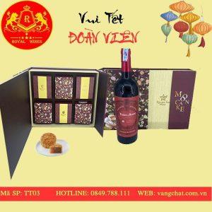 Hộp Quà Bánh Trung Thu Kèm Rượu Vang Tt03