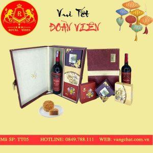 Hộp Quà Bánh Trung Thu Kèm Rượu Vang Tt05