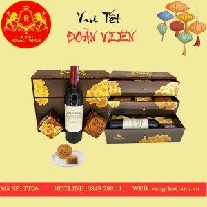 Hộp Quà Bánh Trung Thu Kèm Rượu Vang Tt06