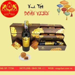 Hộp Quà Bánh Trung Thu Kèm Rượu Vang Tt07