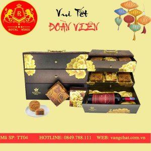 Hộp Quà Bánh Trung Thu Rượu Vang Tt04