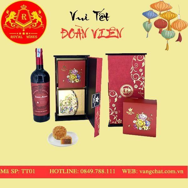 Hộp Quà Bánh Trung Thu Rượu Vang TT01