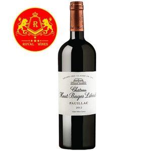 Rượu Vang Chateau Haut Bages Liberal