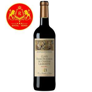 Rượu Vang Cuvee Dame Honneur Du Chateau Lagrezette