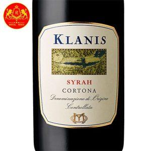 Rượu Vang Klanis Syrah Cortona 1
