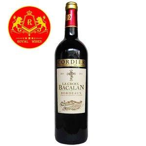 Rượu Vang Cordier La Croix Bacalan Bordeaux