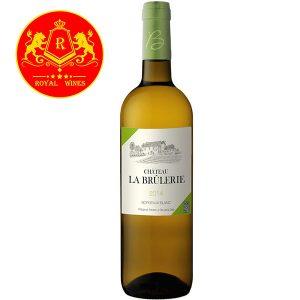 Rượu Vang Chateau La Brulerie Bordeaux Blanc