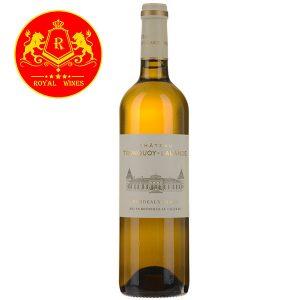 Rượu Vang Chateau Tronquoy Lalande Bordeaux Blanc