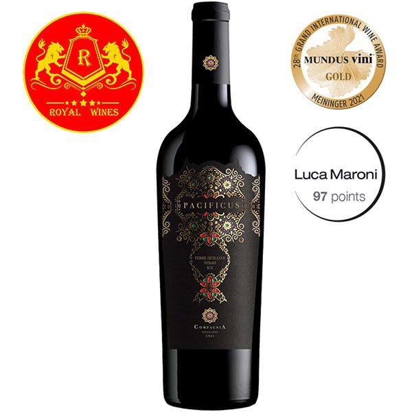Rượu Vang Pacificus Terre Siciliane Syrah Igt