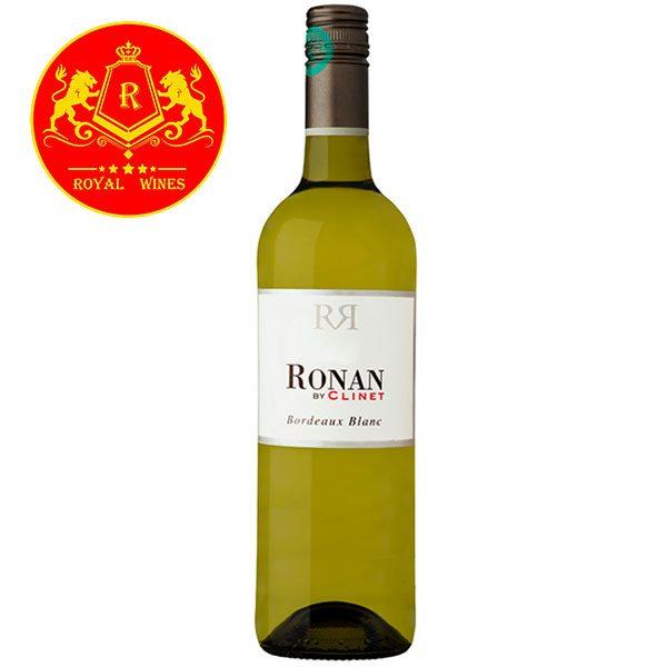 Rượu Vang Ronan By Clinet Bordeaux Blanc