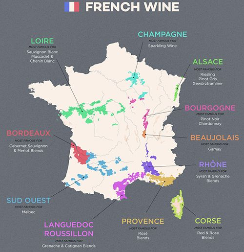 Bản Đồ Rượu Vang Pháp
