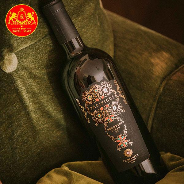 Rượu Vang Pacificus Terre Siciliane Syrah Igt 1
