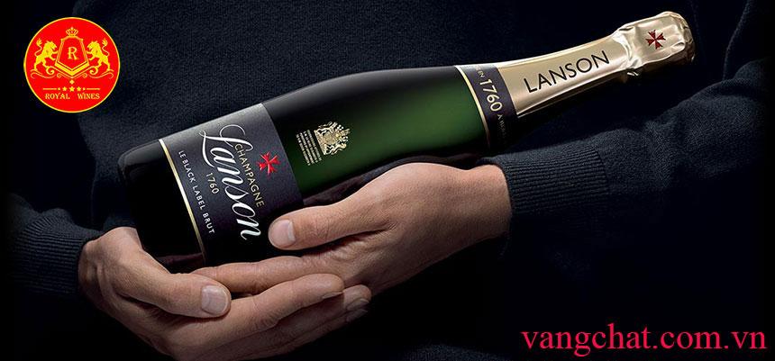 Rượu Vang Pháp Champagne Lanson Black Label Brut