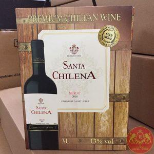 Rượu Vang Bich Santa Chilena 3l